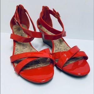 Merona Strappy Wedge Sandals/ Size 10